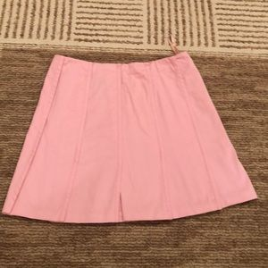 Inc womens pleated pink skirt size 4P
